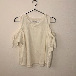 Madewell Cream Cotton Top Sz M